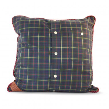 Mike's green plaid pillow